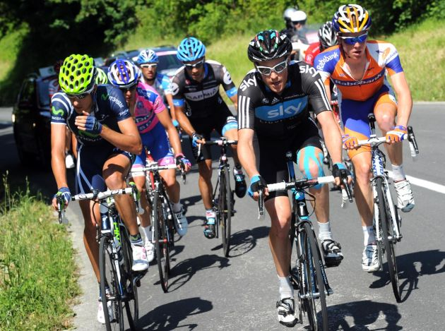 Lars Petter Nordhaug in escape, Giro d'Italia 2011, stage 11