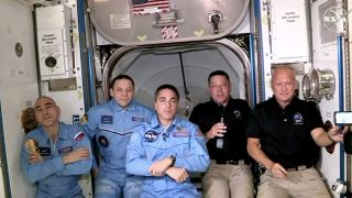 SpaceX astronauts on the ISS