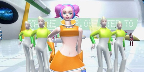Ulala, ready to dance in Space Channel 5.