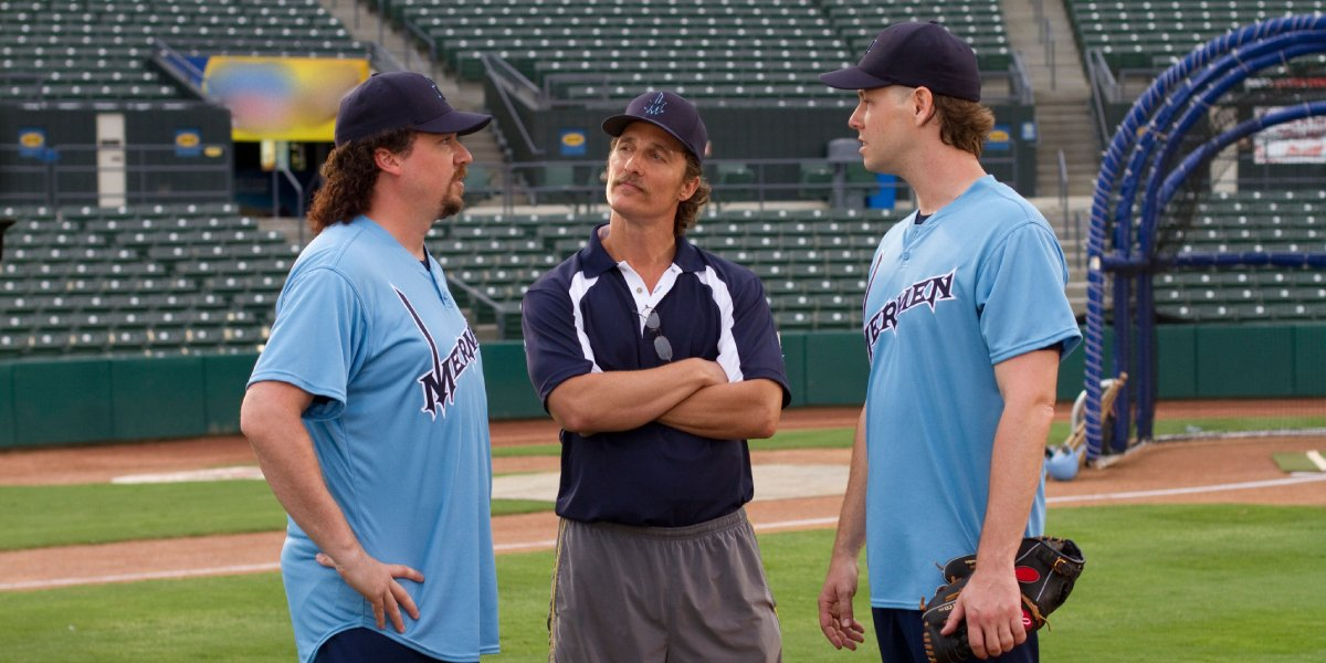 Danny McBride, Matthew McConaughey, and Ike Barinholtz on Eastbound & Down
