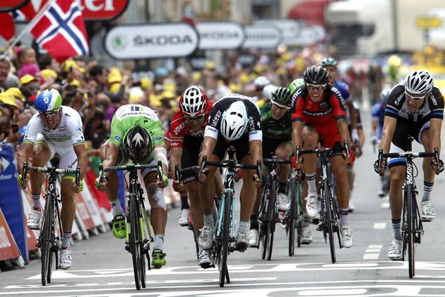 Matteo Trentin wins stage seven of the 2014 Tour de France