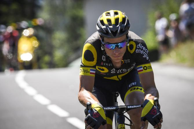 Sylvain Chavanel rides in a breakaway during the 165 km sixteenth stage of the 104th edition of the Tour de France