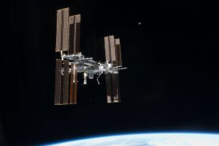 This picture of the International Space Station was photographed from the space shuttle Atlantis just after the two spacecraft undocked on July 19, 2011, during NASA's final shuttle mission STS-135.