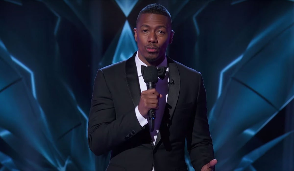 Nick Cannon hosting the Masked Singer.
