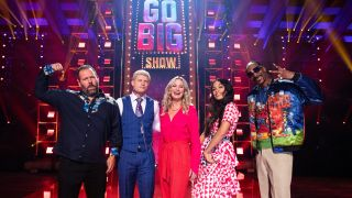 The host and judges of TBS's 'Go-Big Show'
