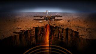 Mars InSight lander art