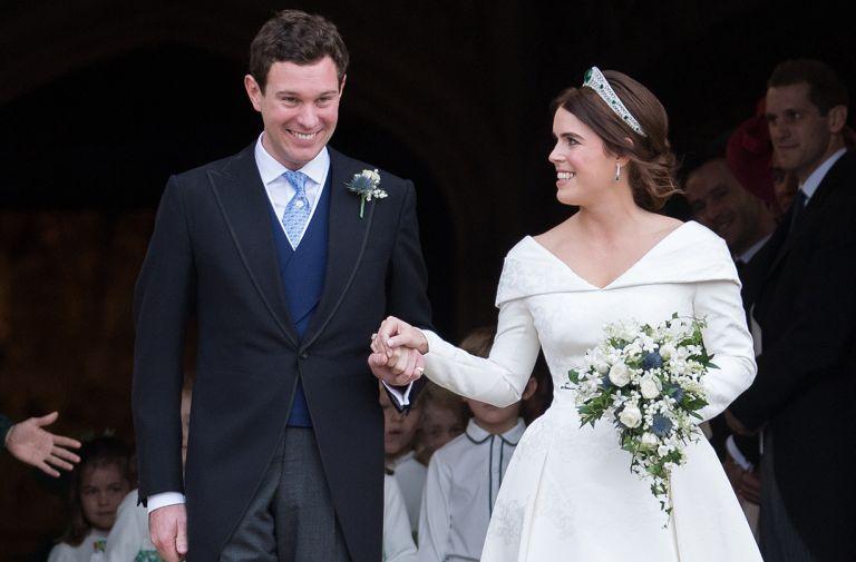 princess eugenie first wedding anniversary tribute video
