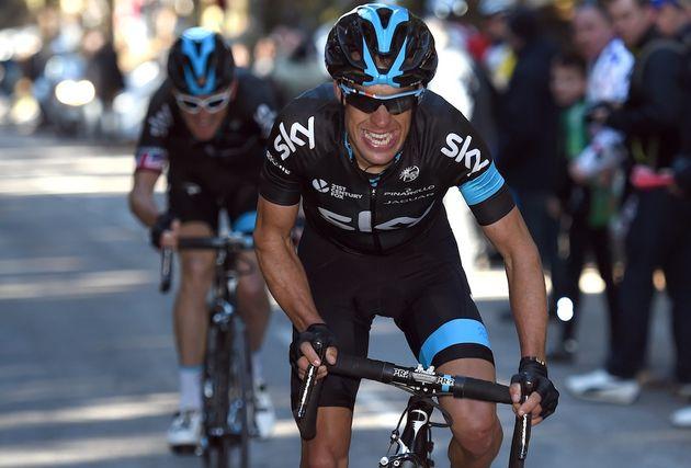 Photo: Richie Porte attacks on stage four of the 2015 Paris-Nice .