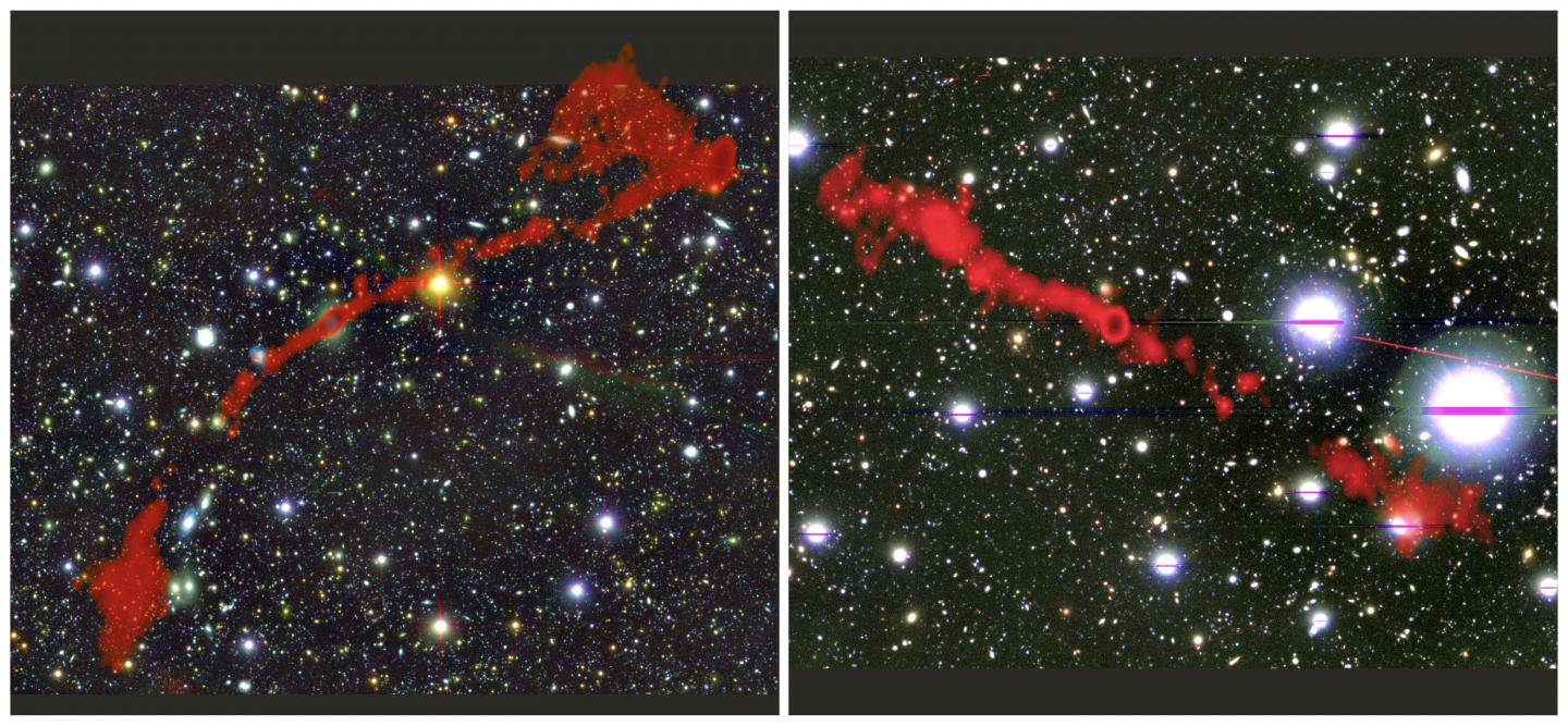 Discovery of two new giant radio galaxies offers fresh insights into the universe thumbnail