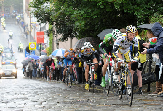 Michael Albasini attacks, Tour of Britain 2010, stage three