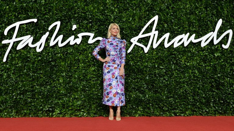 Holly Willoughby's dress is a floral print worn at the Fashion Awards