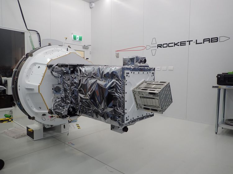 The R3D2 satellite, which tests a new kind of space antenna for the U.S. Defense Advanced Research Project Agency (DARPA).