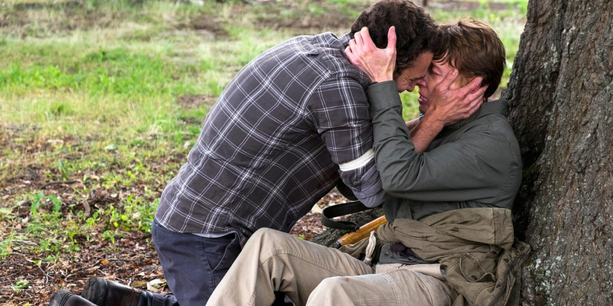 Aaron and Eric in The Walking Dead.