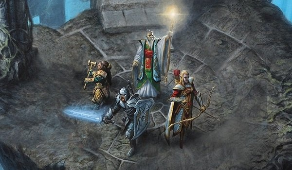 a group of adventurers dive into dungeons and dragons