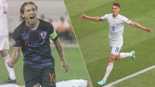 Croatia vs Czech Republic live stream at Euro 2020 — Luka Modric of Croatia and Patrik Schick of Czech Republic
