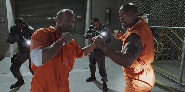 The Fate of the Furious Dwayne Johnson Jason Statham Dukes Up