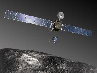 Rosetta Spacecraft Releasing the Philae Lander