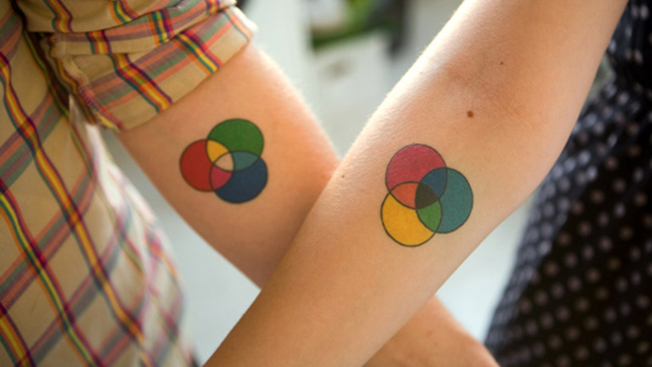 Colour mode tattoos