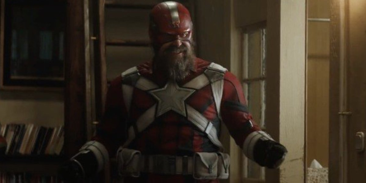 David Harbour as the Soviet Captain America, Red Guardian