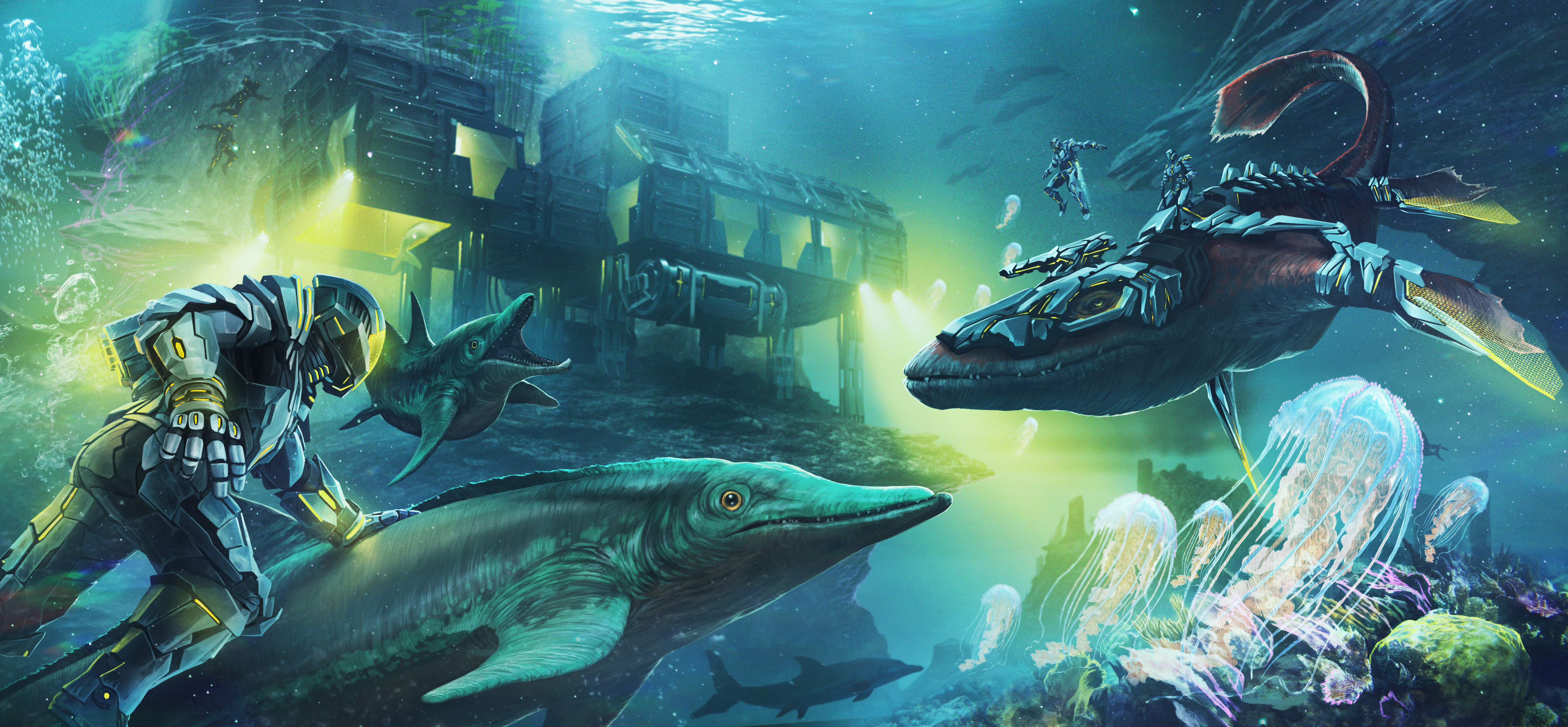 ark tek tier update dino lasers and cyber suits coming soon pc gamer