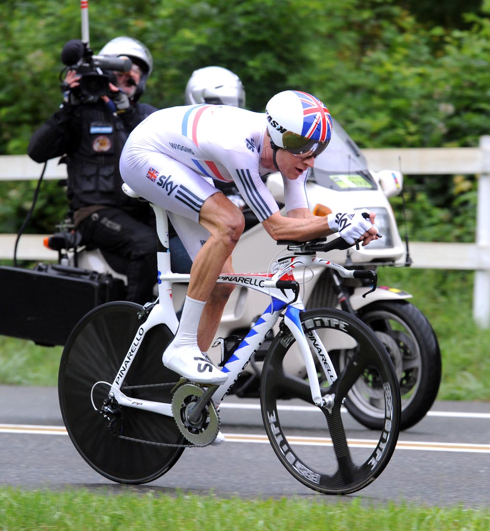 Bradley Wiggins, second on stage, Criterium du Dauphine 2011, stage three ITT