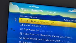 Super Bowl 2021 on Roku