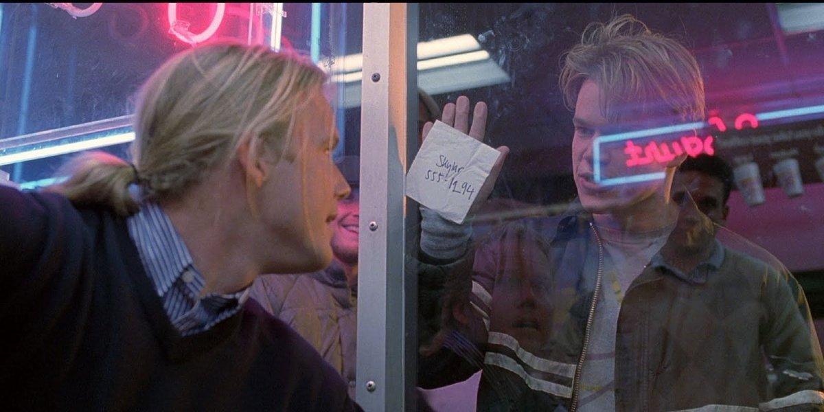 Scott William Winters and Matt Damon in Good Will Hunting