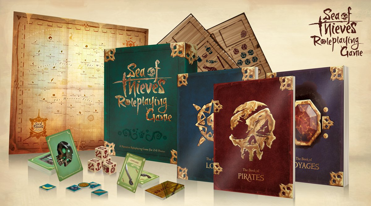 Sea of Thieves is being made into a tabletop RPG with a sweet boxed
