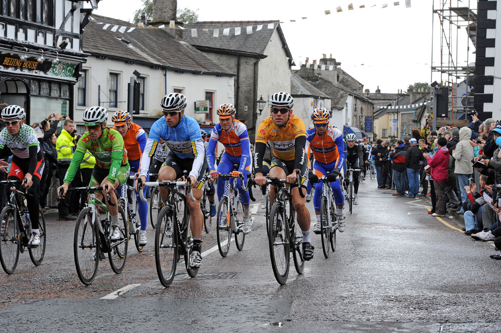 Kendal parade lap, Tour of Britain 2011, stage two (cancelled)