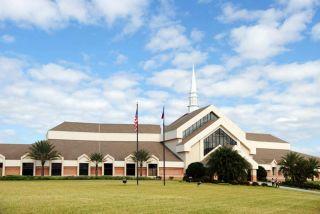 A modern-day church in the U.S.