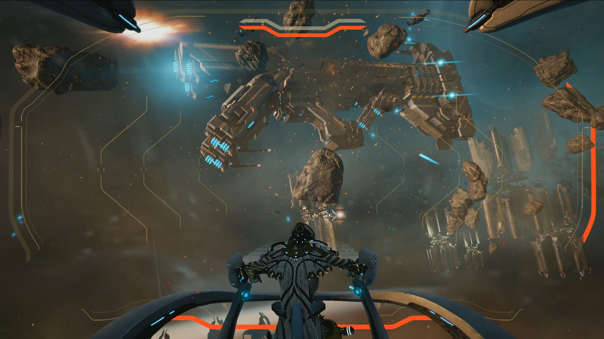 Warframe teases ship-to-ship combat at PC Gaming Show, offers free