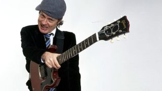 AC/DC's Angus Young with a Gibson SG Junior