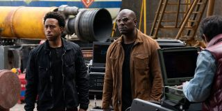 Tyrese Gibson and Ludacris filming F9