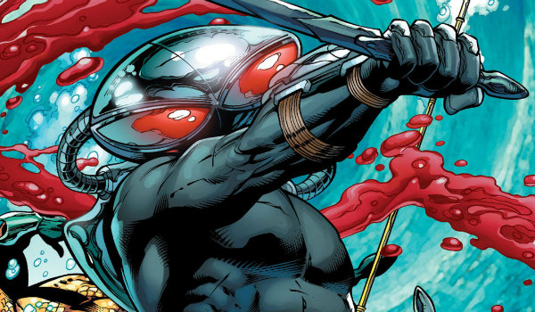 Black Manta fighting comics