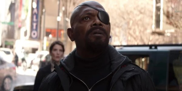 Nick Fury ahead of Spider-man: Far From Home in the MCU