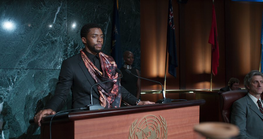 T'Challa at the United Nations in Black Panter