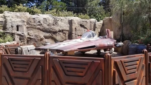 An A-Wing at Star Wars: Galaxy's Edge