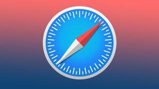 The Apple Safari logo on a gradient background.
