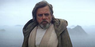 Luke Skywalker scowling in The Force Awakens