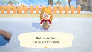 Animal Crossing: New Horizons Wasps Sting