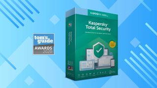 An image of Kaspersky Internet Security accompanied by a banner for the Tom's Guide 2020 Awards.