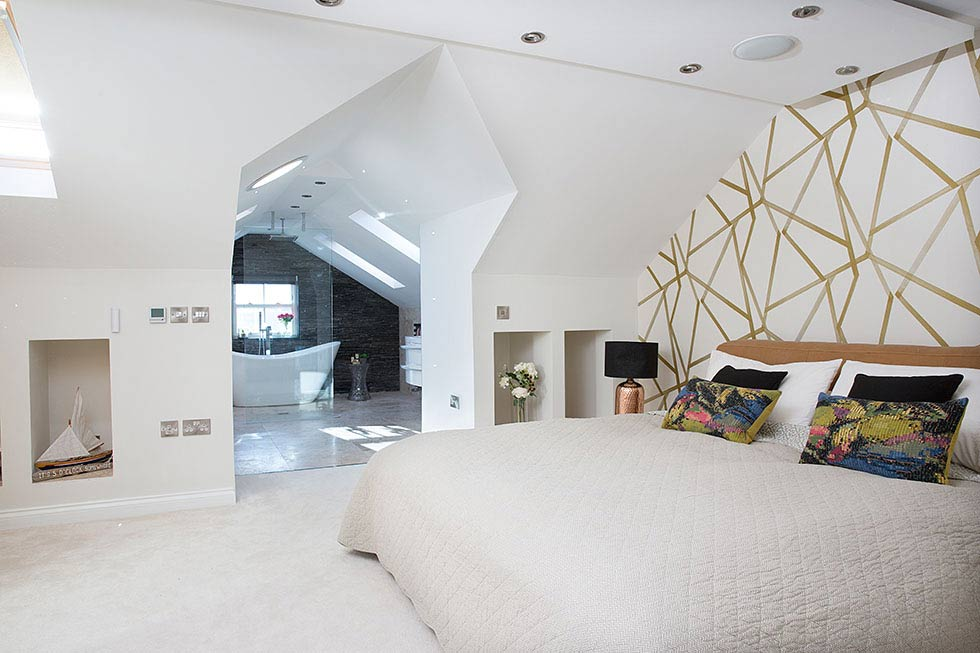 open plan master bedroom loft conversion real homes - Planning An Ensuite