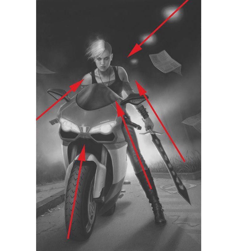 Powerful artistic compositions: focal point