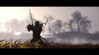 Samurai in long grass