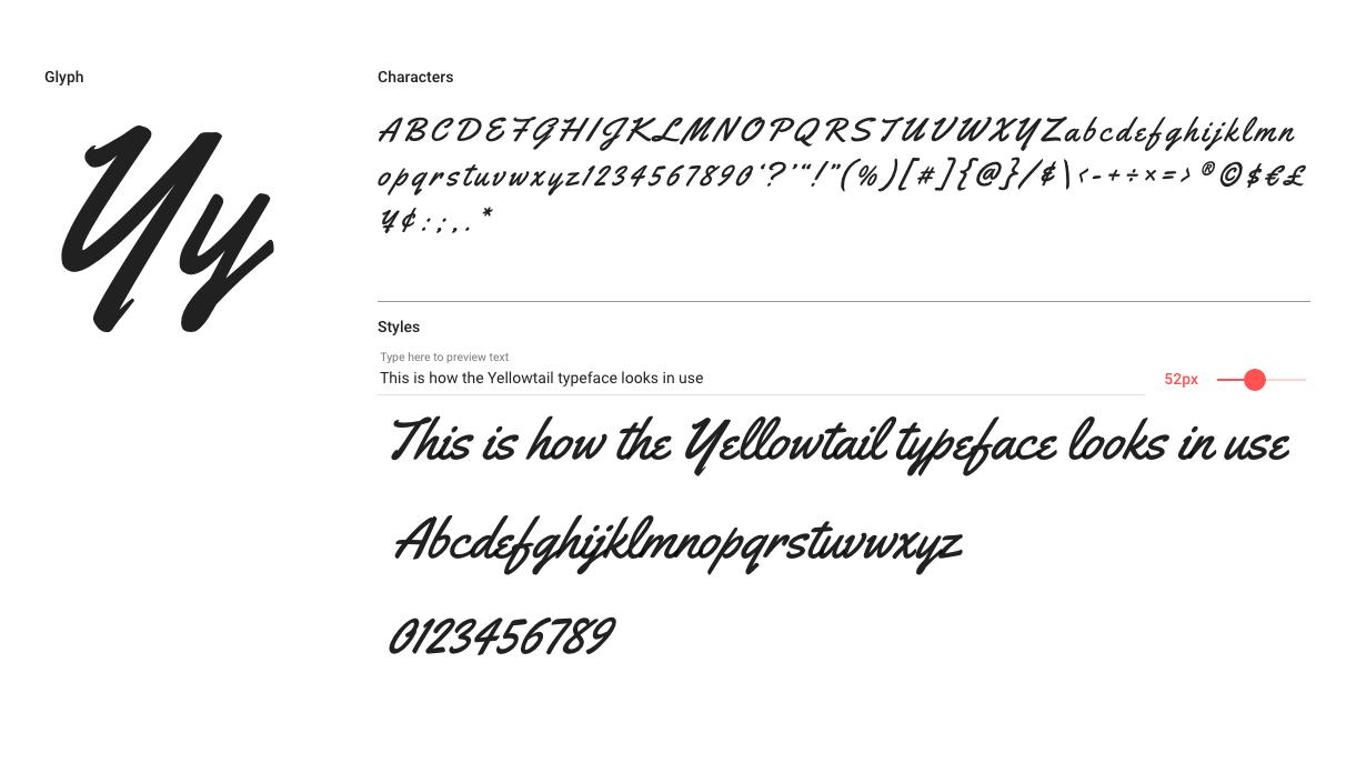 Best free fonts: Yellowtail
