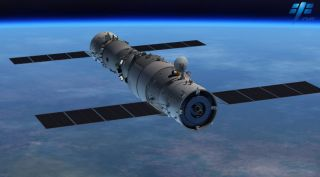 shenzhou spacecraft at tiangong art