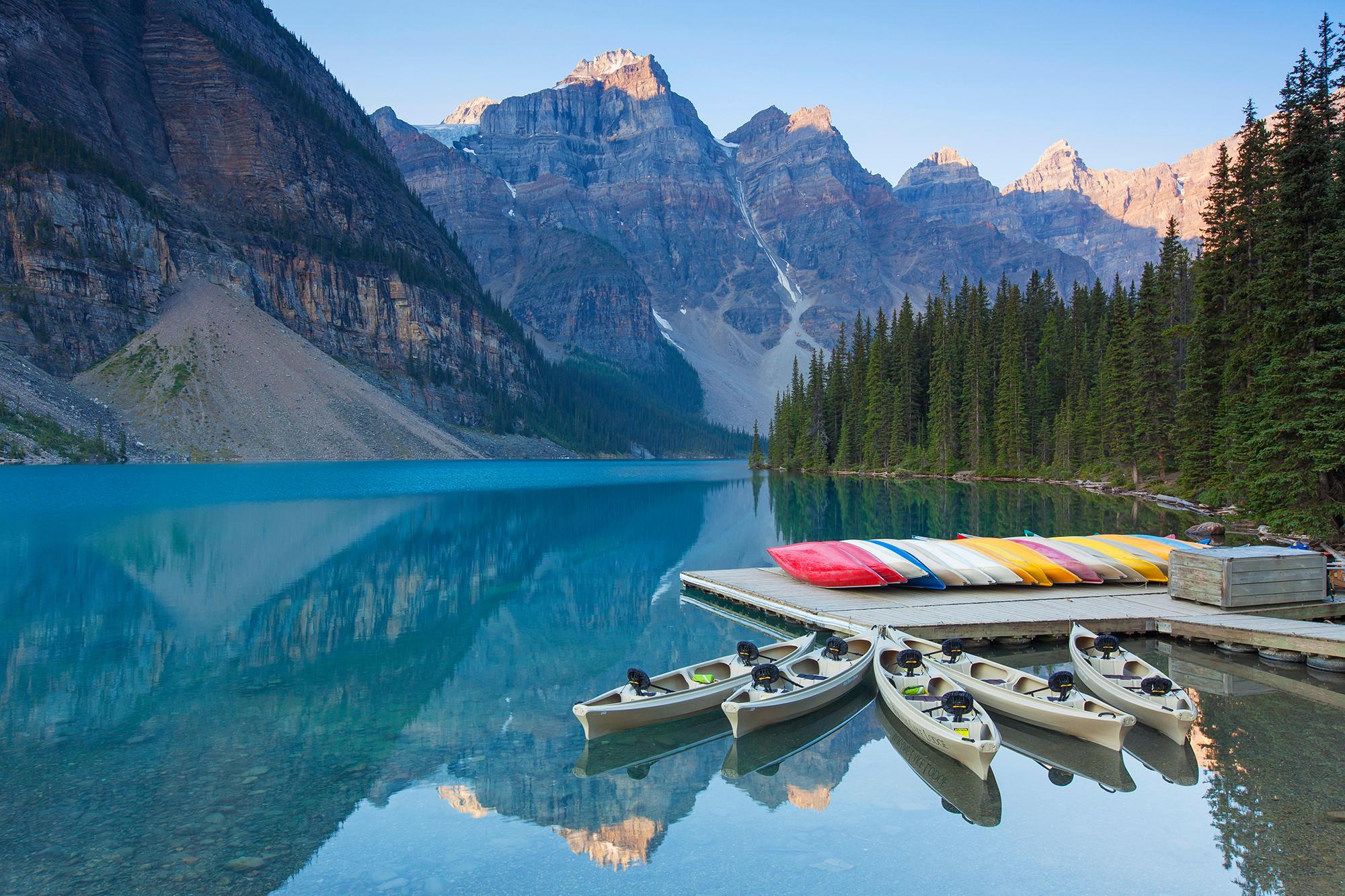 Canada's glassy lake near Banff