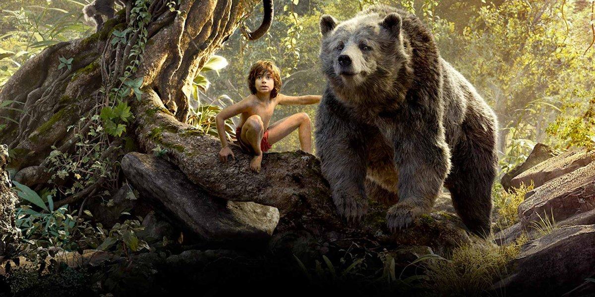 Mowgli (Neel Sethi) and Baloo (Bill Murray) in The Jungle Book