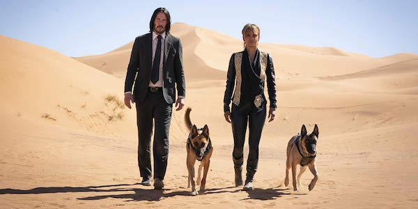 Keanu Reeves and Halle Berry in John Wick: Chapter 3 – Parabellum