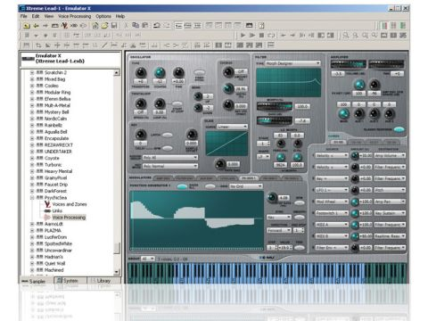 Emulator X3 ships with some quality sounds, and it's easy to create your own.